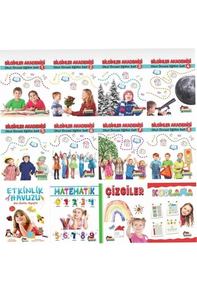 İlk Akademi Yayınları Bilginler Akademisi Okul Öncesi Eğitim Seti 5 Yaş