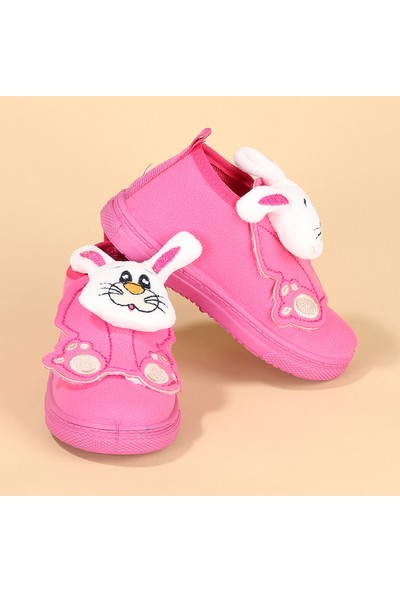 Sanbe 106S132 Okul Kreş Kız Çocuk Panduf Ayakkabı Fuşya