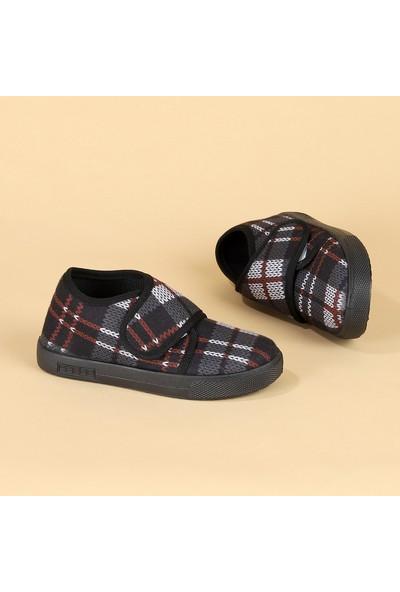 Sanbe 106 S 110 Okul Kreş Kız/Erkek Çocuk Panduf Ayakkabı Füme
