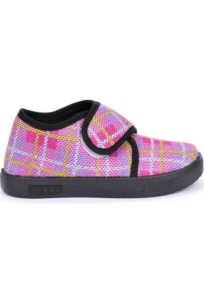 Sanbe 106 S 110 Okul Kreş Kız/Erkek Çocuk Panduf Ayakkabı Pembe