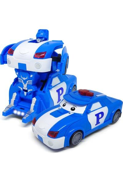 Elifeshop ES0826 - Mv Robota Dönüşebilen Işıklı Müzikli Oyuncak Mavi