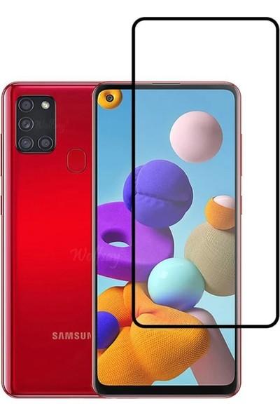 Zümrah Samsung Galaxy A21S Optik Şeffaf Seramik Ekran Koruyucu Jelatin