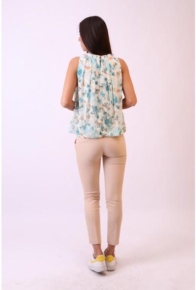 Aclassics Kolsuz Çiçekli Şifon Bluz