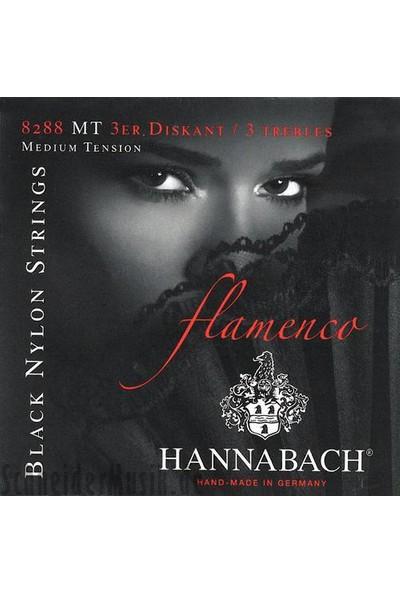 Hannabach 8288 mt 3-Treble Set Alt 3 Tel Flamenko Gitar Teli