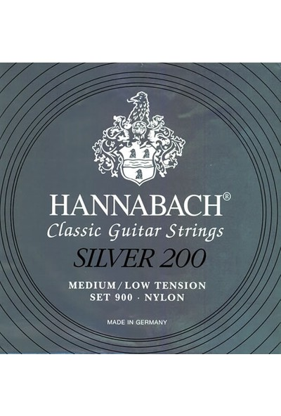 Hannabach Silver 200 Medium Low Tension - 900 Mlt Klasik Gitar Teli