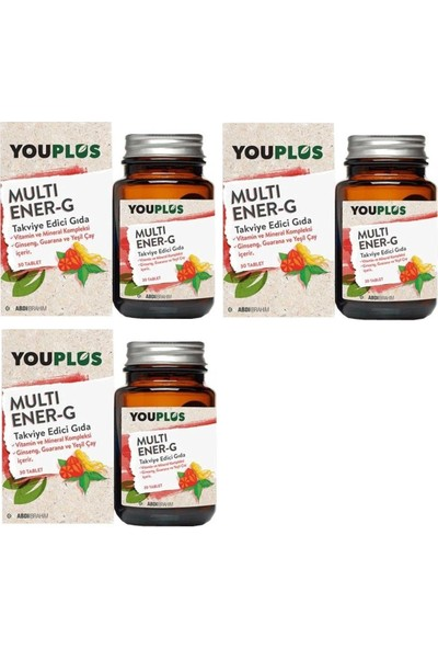 Youplus Multi Ener-G Multivitamin 30 Tablet x 3