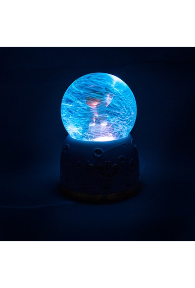 3D LIGHT FX Müzikli Işıklı Otomatik Pilli Sevgili Kar Küresi(Mse-4)