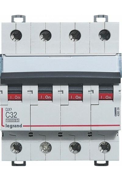 Legrand Trifaze Dört Kutuplu 4X32A C Tipi Otomatik Sigorta 10KA 409339