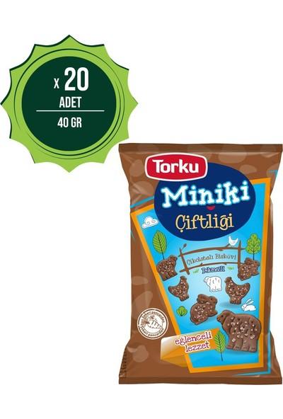 Torku Miniki Çikolatalı Bisküvi 40 Gr X20