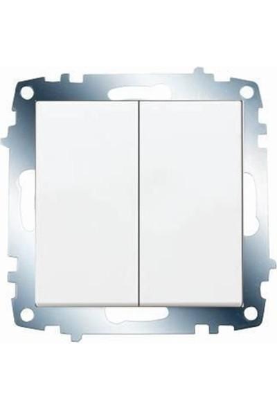 Viko Karre Komitatör Ikili Anahtar Beyaz ( Çerçeve Hariç ) 321012