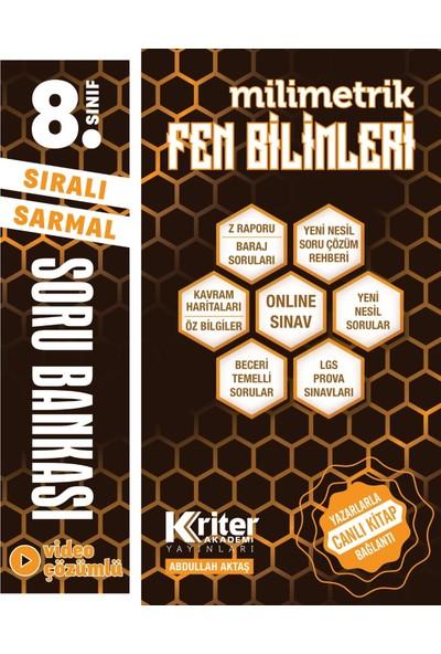 Kriter Akademi 8. Sınıf Tüm Dersler Soru Bankası Seti (6 Kitap)
