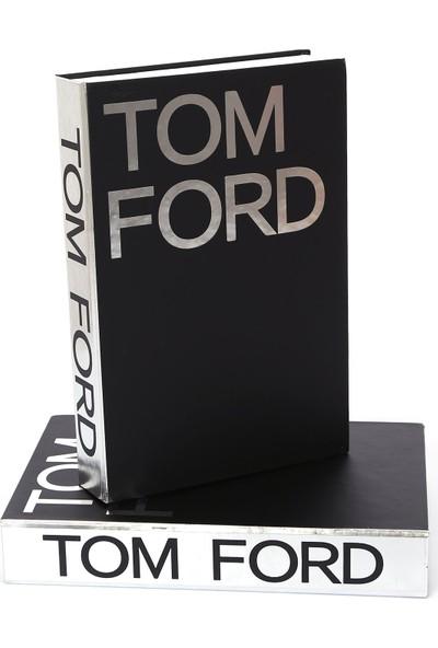 Yedi Home & Decor Siyah Üzeri Gümüş Varaklı Tom Ford Dekoratif Kutu