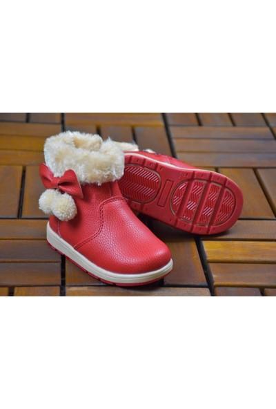 Gigi Lisanslı Markalar Kız Çocuk Ponponlu Içi Kürklü Kırmızı Bot