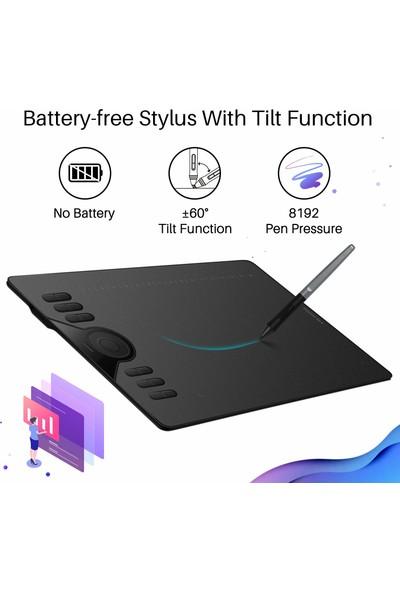 """Huion HS610 10 x 6,25"""" Grafik Tablet (Yurt Dışından)"""