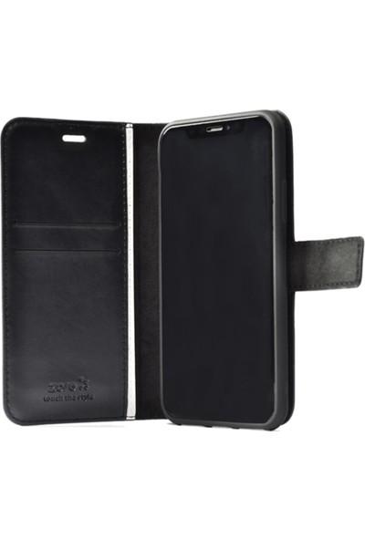 MagicCase Samsung Galaxy A30 Deri Deluxe Kapaklı Cüzdanlı Kılıf - Siyah