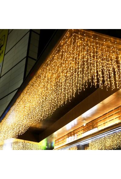 Ekspres Pazar Dekoratif Sarı Saçak Led Işık 4 m Günışığı