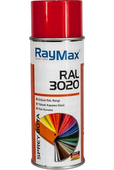 Raymax Akrilik Ral 3020 Trafik Kırmızı Sprey 400ML.MADEIN Germany