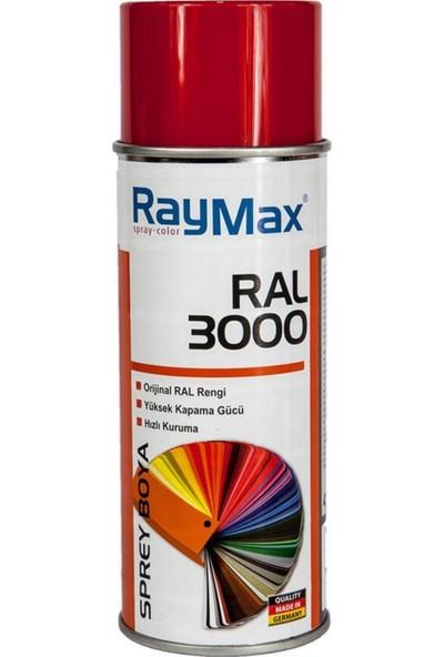 Raymax Akrilik Sprey Ral 3000 Ateş Kırmızı 400 Ml.made In Germany