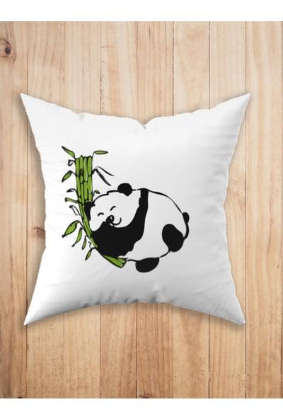 Adenka Panda Desen Kırlent Kılıfı