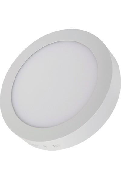 Voltek 18 Watt 8'' Yuvarlak Sıva Üstü LED Panel Armatür Beyaz 6500 K