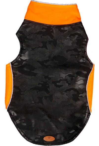 Modadog Köpek Su Geçirmez Mont Yağmurluk Neon Orange Kamuflaj M