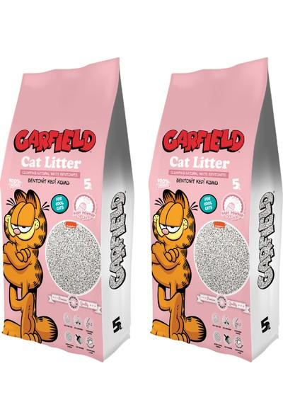 Garfıeld 5l Bebek Pudrası Kokulu Kedi Kumu (2*5l)