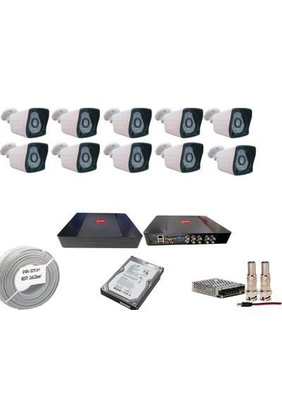 Promise 10 Kameralı Set 3 Mp Ahd Sistem 1080P Gece Görüşlü Harddisk Dahil Kamera Sistemi