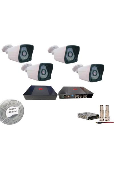 Promise 4 Kameralı Set 3 Mp Ahd Sistem 1080P Gece Görüşlü Kamera Sistemi