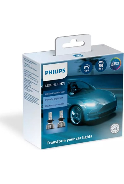 Philips LED Xenon H7 12-24 V Uyumlu 6500 K Parlak Beyaz 11972UE2X2 8719018003843