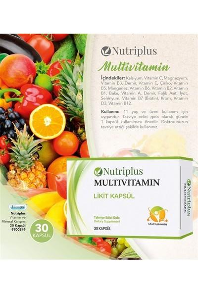 Farmasi Nutrıplus Vitamin ve Mineral Karışımı 30 Kapsül