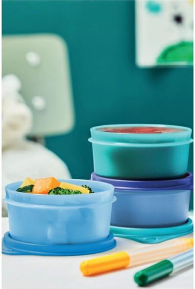 Tupperware Şeker Üçüzler ( 3 x 250 ml ) Mavi