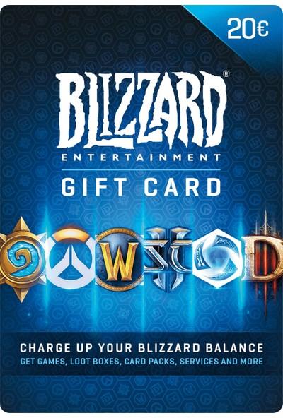 Blizzard Gift Card 20 Euro Blizzard Eu Dijital Kod