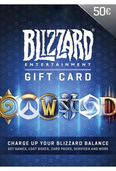 Blizzard Gift Card 50 Euro Blizzard Eu Dijital Kod