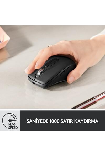 Logitech MX Anywhere 3 Kompakt Kablosuz Performans Mouse - Siyah 910-005988