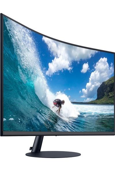 "SAMSUNG LC24T550FDMXUF 24"" 75Hz (HDMI+D-Sub+Display) Full HD FreeSync 1000R Curved Çerçevesiz Gaming Monitor"