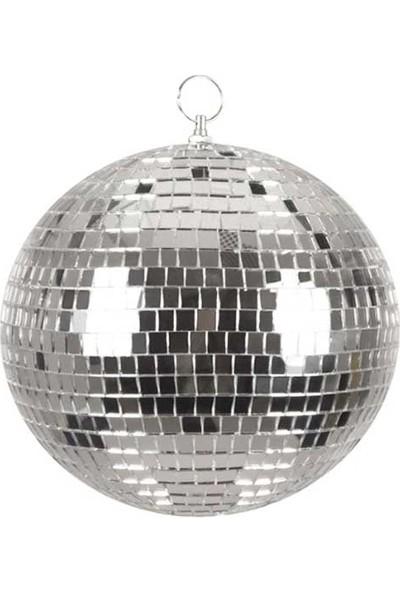 Partioutlet Disko Topu Aynalı Gümüş 25 cm