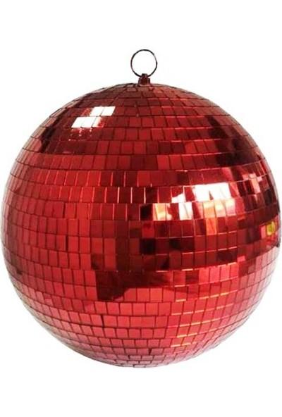 Partioutlet Disko Topu Aynalı Kırmızı 25 cm