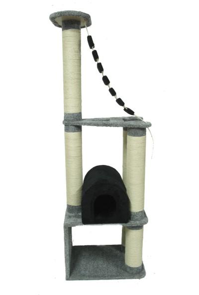 Tiger Pets Armağan Kedi Evi ve Tırmalama 70 x 51 x 200 cm Gri