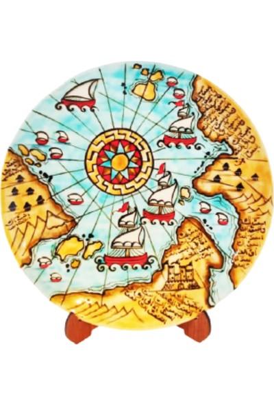 Tuluat Art Gallery Denizci Harita Desenli Meşhur Kütahya Çinisi
