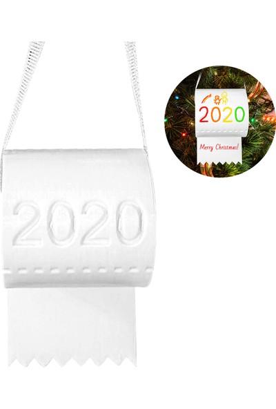 Buyfun 2020 Yılbaşı Ağacı Süs Tuvalet Kağıdı Asılı Dekorasyon