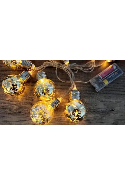 Hdmarketim Renkli 3D Ampul LED Pilli Şerit Lamba Işık (2 Metre)