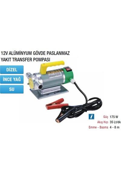 Mitacan MTTP40B12 Paslanmaz Yakıt Transfer Pompası 12V