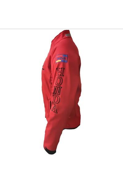 Anka Honda Softshell Ceket Mont Rüzgar ve Su Geçirmez Kırmızı