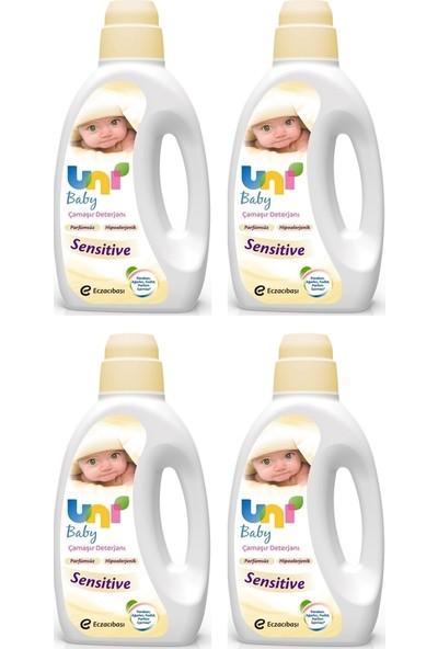 Uni Baby Sıvı Çamaşır Deterjanı Sensitive Parfümsüz 4 x 1500 ml