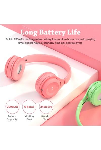 Auvc Y08 Kulak Üstü Müzik Kulaklık Kablosuz Bluetooth 5.0 (Yurt Dışından)