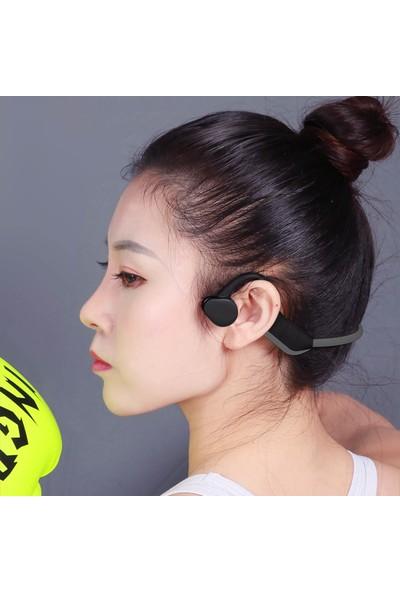 Auvc J10 Kemik İletimli Kulaklık Bluetooth 5.0 Kulaklık (Yurt Dışından)