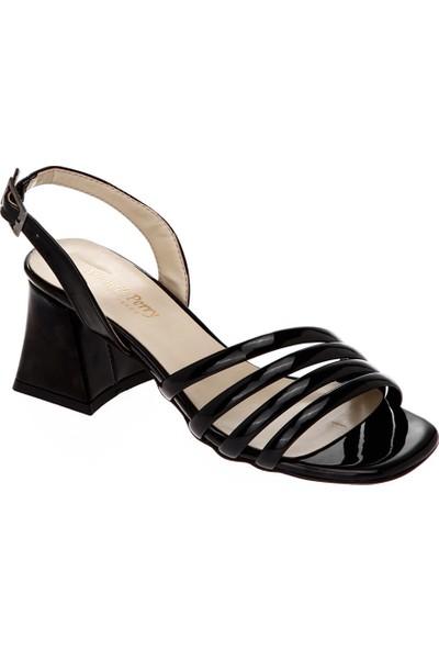 Shoetek 030-707 Kadın Topuklu Ayakkabı Siyah Ayna