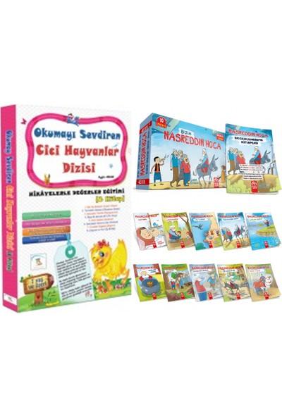 5 Renk Yayınları Cici 1. Sınıf Hayvanlar Dizisi + Nasreddin Hoca 10'lu Hikaye Seti