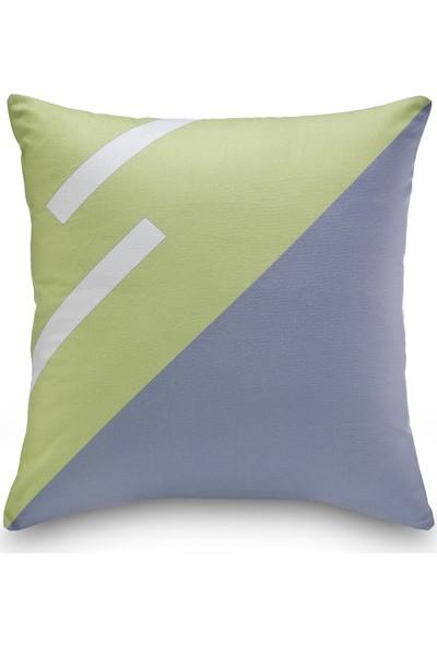 NevresimEv Zikzak Desenli Yeşil 4'lü Dekoratif Kırlent Kılıfı -K05
