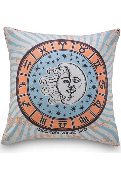 NevresimEv Zodiac Çemberi Dekoratif Kırlent Kılıfı -K32